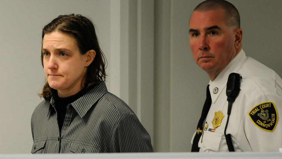 (Belchertown, MA, 01/22/13) Sonja Farak, 35, of Northampton, is arraigned in Eastern Hampshire District Court in Belchertown on charges that she stole cocaine and heroin while working as a chemists at a state crime lab on Tuesday, January 22, 2013. Staff photo by Christopher Evans