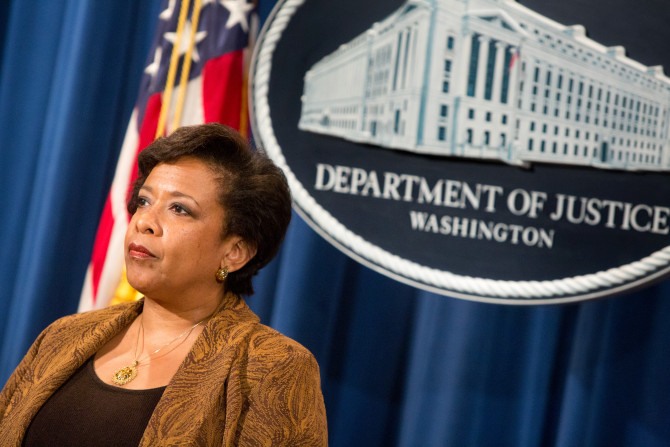 WASHINGTON, DC - JUNE 22:  Attorney General Loretta E. Lynch listens at a press conference on June 22, 2016 in Washington, DC. Lynch and other government officials announced the result of a national Medicare fraud crackdown that took place in 36 districts around the country. (Photo by Allison Shelley/Getty Images)