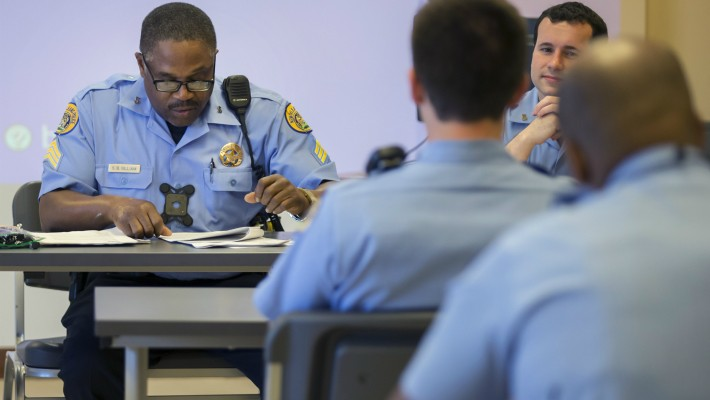 NOPD Fifth District  roll call and misc. shots New Orleans, LA 9.13.16