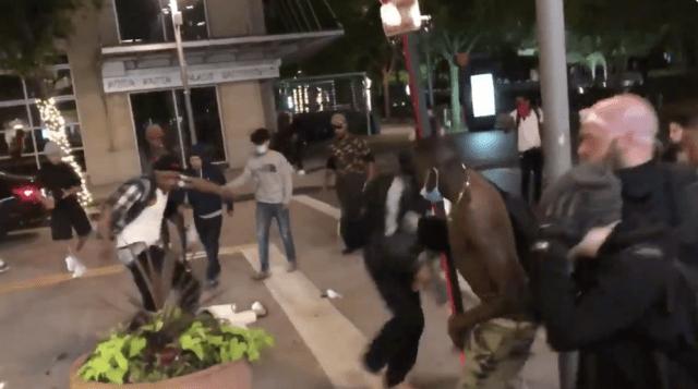 Dallas man carrying machete