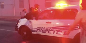 Detroit police SUV