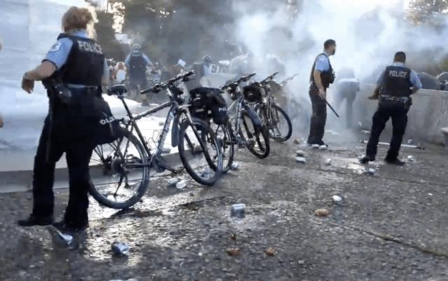 18 officers injured