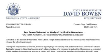 Rep. David Bowen Press Release