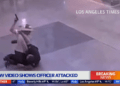 LAPD officer pistol whipped