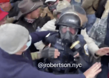 police officer battered
