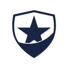 Law Officer Badge Blue