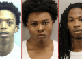 Left to right: Devon Maurice Dorsey Jr., 20; Nyquez Tyyon Baker, 18; and Ahmon Jahree Adams, 22.