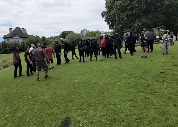 Antifa militants